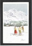 CPA Pellegrini Ski Patinage Sport D'hiver De Neige Non Circulé VOUGA N° W 2 - Deportes De Invierno