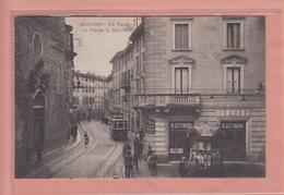 OLD POSTCARD - ITALY - ITALIA -     BERGAMO - VIA TASSO - TRAM - ANIMATED - Bergamo