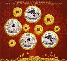 Kyrgyzstan - 2019 - New Year Of The Pig - Mint Souvenir Sheet - Kyrgyzstan