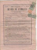 Journal MUSEO DI FAMIGLIA De MILANO1863 Avec 1 Cmi X5 +10C Oblt  CàD De MILANO - 1861-78 Victor Emmanuel II