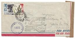 (C13) - INDOCHINE - Y&T N°PA48 SEUL LETTRE AVION PNOMPENH CAMBODGE => AUTRICHE 1950 + MARQUE 20 EME ANNIVERSAIRE - Brieven En Documenten