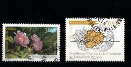 Andorre Français 2013 : Timbres Yvert & Tellier N° 743 - 745 - 746 - 747 - 748 - 749 Et 750 Avec Oblitérations Rondes. - Andorre Français