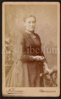 Photo-carte De Visite / CDV / Femme / Woman / Photographer Fabronius / Bruxelles / 2 Scans - Foto's