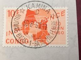 Republiek Congo Stempel- Oblitération Kamina Base Militaire 1 D - République Du Congo (1960-64)