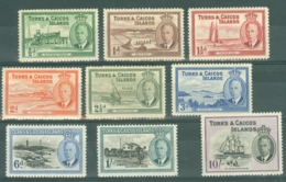 Turks & Caicos Is: 1950   KGVI Selection To 10/-      MH - Turks And Caicos