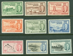 Turks & Caicos Is: 1950   KGVI Set  SG221-233     MH - Turks And Caicos