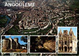16 ANGOULEME  VUE GENERALE DE LA VILLE AVEC SES REMPARTS L'HOTEL DE VILLE LE JARDIN VERT LA CATHEDRALE SAINT-PIERRE - Angouleme