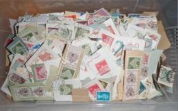 LOT 1 KILOS DE TIMBRES PETITS FORMATS SUR FRAGMENTS AVEC MULTIPLE - Lots & Kiloware (mixtures) - Min. 1000 Stamps