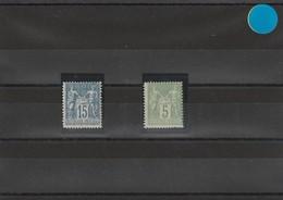Type Sage N°101** Et 106**  Neuf - 1876-1898 Sage (Type II)