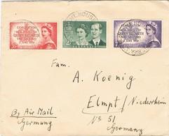 31499. Carta Aerea MONT HOUSE (Canberra) Australia 1953. Coronation Elisabeth II - 1952-65 Elizabeth II: Ediciones Pre-Decimales