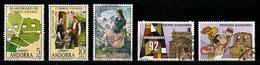 Andorre Espagnol 1978 : Timbres Yvert & Tellier N° 104 - 105 - 113 - 186 - 187 - 231 - 232 - 236 Et 237 Avec Ob.rondes - Andorre Espagnol