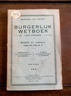Oud Boek BURGELIJK  WETBOEK   1944 - Wetten & Decreten