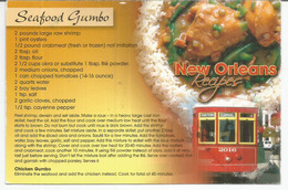 New Orleans Recipe (Seafood Gumbo), Postcard From New-Orleans Sent To Andorra, With Arrival Postmark. - Etats-Unis