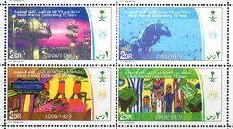 SAUDI ARABIA, 2008, MNH, OIL INDUSTRY, 75th ANNIVERSARY OF ARAMCO, DIVERS, FISH, 4v - Factories & Industries