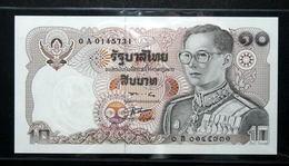 Thailand Banknote 10 Baht Series 12 P#87 SIGN#56 Common Prefix - 0Aท UNC - Thaïlande