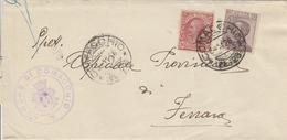 Comacchio. 1926. Annullo Frazionario (24 - 23) + Annullo A Tampone COMUNE DI COMACCHIO, Su Lettera Affrancata - 1900-44 Victor Emmanuel III