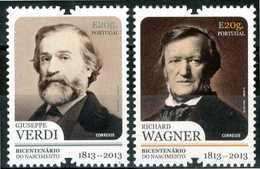 PORTOGALLO / PORTUGAL 2013** - Giuseppe Verdi E Richard Wagner - 2 Val. MNH, Come Da Scansione. - Musik