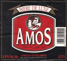 METZ - MOSELLE - (57) - BRASSERIE AMOS - ETIQUETTE - Bière