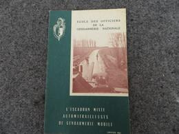 L'Escadron Mixte Automitrailleuses De La Gendarmerie Mobile - Document D'étude - 0/05 - Livres, BD, Revues
