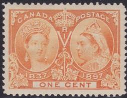 Canada   .    Scott    .    51     .     *    .    Mint-hinged    .   /    .   Ongebruikt Met Gom - 1851-1902 Reign Of Victoria