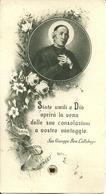 """Santino Con Reliquia """"San Giuseppe Benedetto Cottolengo"""" Torino 1934 - Santini"""