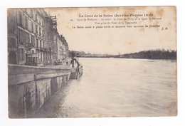 75 Paris Inondations 1910 N°37 Quai De Béthune Pont De Sully Quai St Bernard Prise Du Pont De La Tournelle échafaudage - Inondations De 1910
