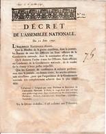 22 Juin 1791 AFFAIRE DE VARENNES - ORGANISATION De La GENDARMERIE NATIONALE - Documents Historiques