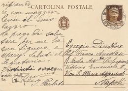 Positano. 1935. Annullo Frazionario (57 - 159) Su Cartolina Postale Completa Di Testo - Storia Postale