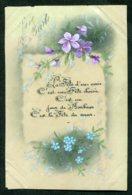 11828  CPA  Sainte-Barbe : Fleurs Peintes  (carte Souple) - Fêtes - Voeux