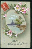 11829  CPA  Meilleurs Voeux Et Souhaits Pour Votre Fête : Fleurs Peintes  (carte Souple) - Fêtes - Voeux