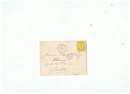 LETTRE DEPART ANOR (NORD) Pour BRUXELLES 1886 - 1877-1920: Halbmoderne