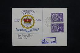 NYASSALAND - Enveloppe FDC Du Couronnement De La Reine Elisabeth En 1953 En Recommandé Pour Cape Town - L 25142 - Nyasaland (1907-1953)