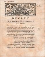 23 Juin 1791 AFFAIRE DE VARENNES - SÛRETÉ De La Personne Du ROI & De Sa FAMILLE - Prendre Toutes Précautions - Historische Dokumente