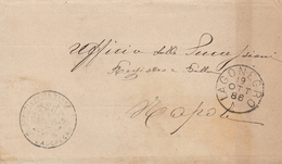 Lagonegro. 1886. Annullo Grande Cerchio LAGONEGRO, Su Franchigia Senza Testo - 1878-00 Humberto I