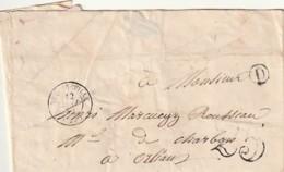 ///   FRANCE  Lettre Marque Postale Courrier JOINVILLE  1852 - D Cercle - Taxe 25 - Orléans - Marcophilie (Lettres)