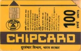 INDIA - ASCOM - Monetel, Yellow 100 - Telephoning People (Brown), 1989, Used - Inde