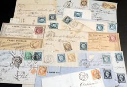 1855/1875 - Lot De 18 Lettres Avec Napoléon Non-dentelé Et Cérès - Marcophilie (Lettres)