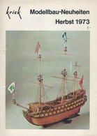 KAT109 Modellprospekt KRICK Modellbau-Neuheiten Herbst 1973, Deutsch - Littérature & DVD