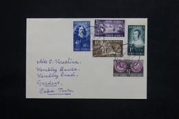 AFRIQUE DU SUD - Enveloppe FDC En 1952 Pour Cape Town - L 25147 - South Africa (...-1961)