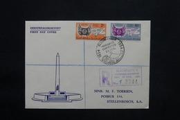AFRIQUE DU SUD - Enveloppe FDC En 1954 En Recommandé Pour Stellenbosch - L 25148 - South Africa (...-1961)