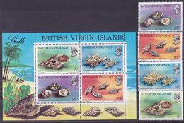 ILES VIERGES, Bloc N° 4+ 272/275, 1974, Cote 20,5€ , Coquillages Tropicaux ( W1903/080) - Iles Vièrges Britanniques