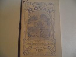 ROYAN, Petit Guide Regional Offert Par Les Nouvelles Galeries, 1906 - Advertising