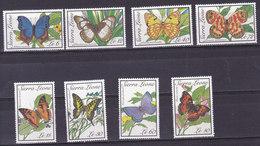 SIERRA LEONE,  N°1008/1011+1021/24, 1989, Cote 27€ , Papillons ( W1903/081) - Sierra Leone (1961-...)