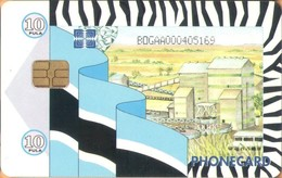 Botswana - Factory, Chip Siemens - S30 (Module 34), Flag, 10 P, Used As Scan - Botswana