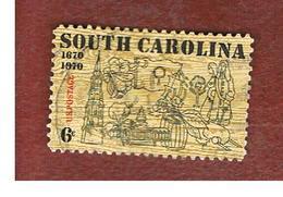 STATI UNITI (U.S.A.) - SG 1403 - 1970   300^ ANNIVERSARY OF SOUTH CAROLINA     - USED - Stati Uniti