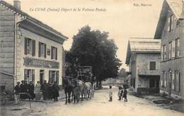 LA CURE (VD) - Départ De La Voiture Postale, Magasin R. Ponthus - Ed. Ponthus. - VD Vaud