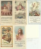 """5 Santini Ricordo """"SS. Comunione Pasquale"""" Anni 1950 (Anno Santo), 1951, 1953, 1955, 1958, Parrocchia Ferrera Erbognone - Images Religieuses"""
