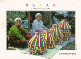 Open Market At Kota Belud, Sabah. Malaysia, Postcard Sent To Andorra, With Arrival Postcard. - Marchés