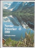 NORVEGE - ANNEE COMPLETE 1989 ** MNH Dans LIVRET SPECIAL - COTE = 65.5 EUR. - Full Years