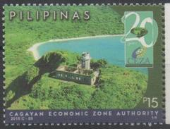 PHILIPPINES, 2016, MNH, CAGAYAN ECONOMIC ZONE AUTHORITY, LANDSCAPE, TREESM BEACHES, LIGHTHOUSES,1v - Geography